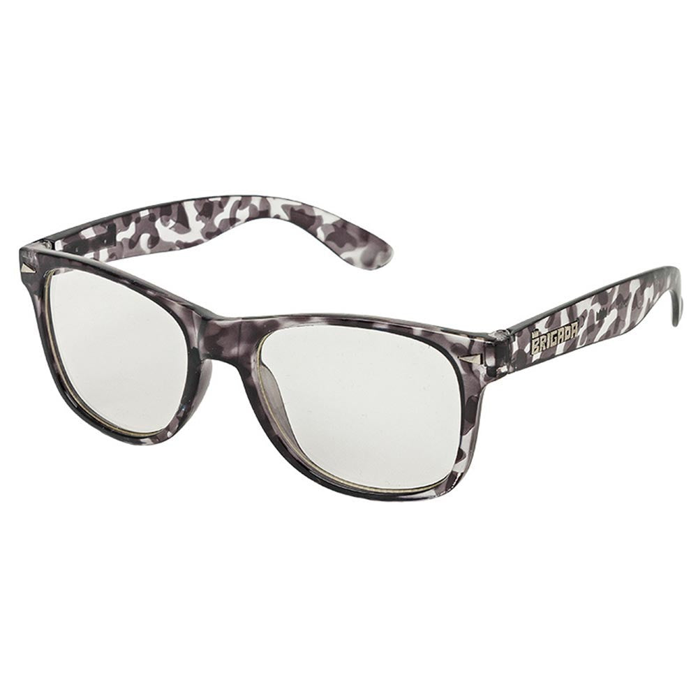 Brigada Lawless Sunglasses - Grey/Tortoise w/ Clear Lens