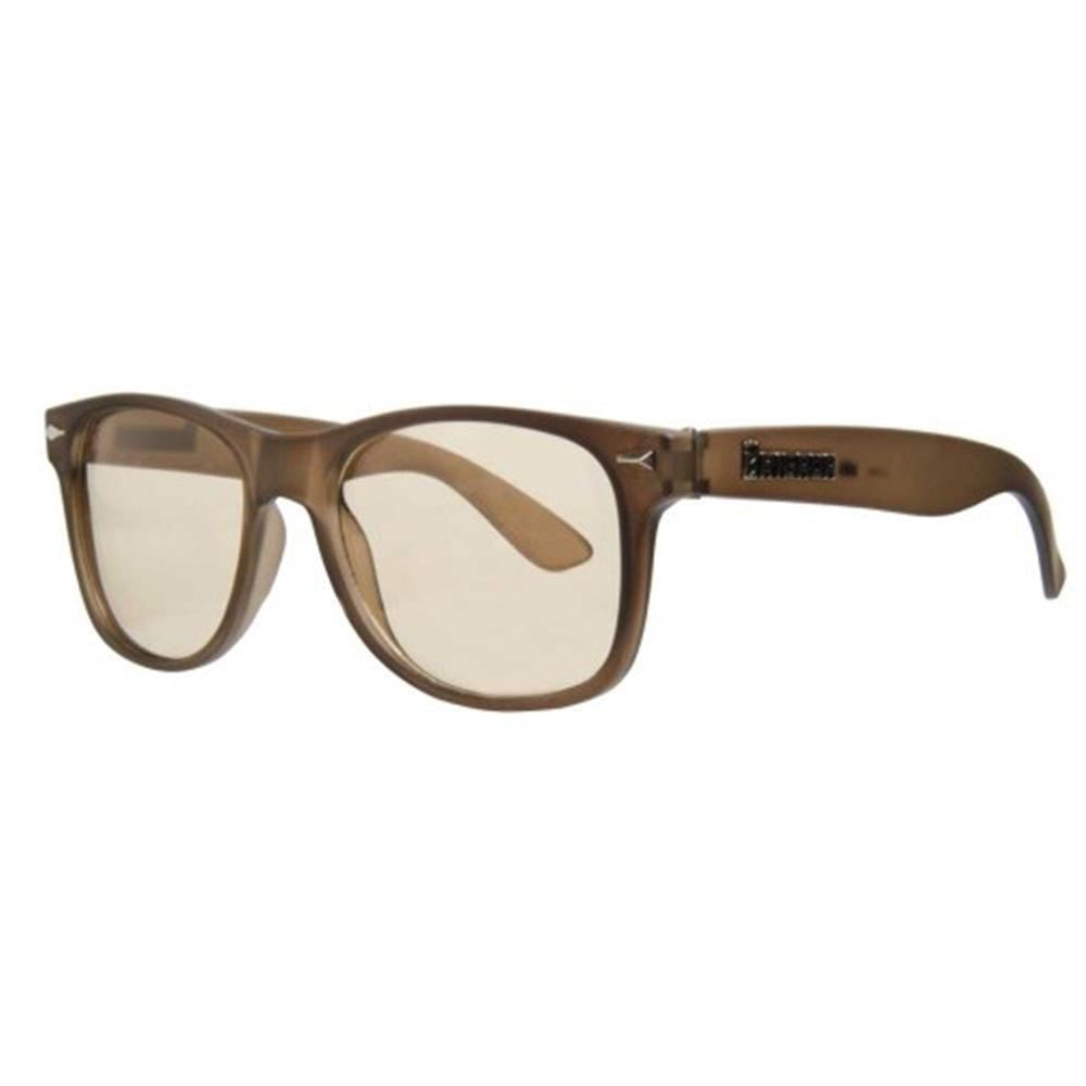 Brigada Lawless Sunglasses - Brown/Frost w/ Clear Lens