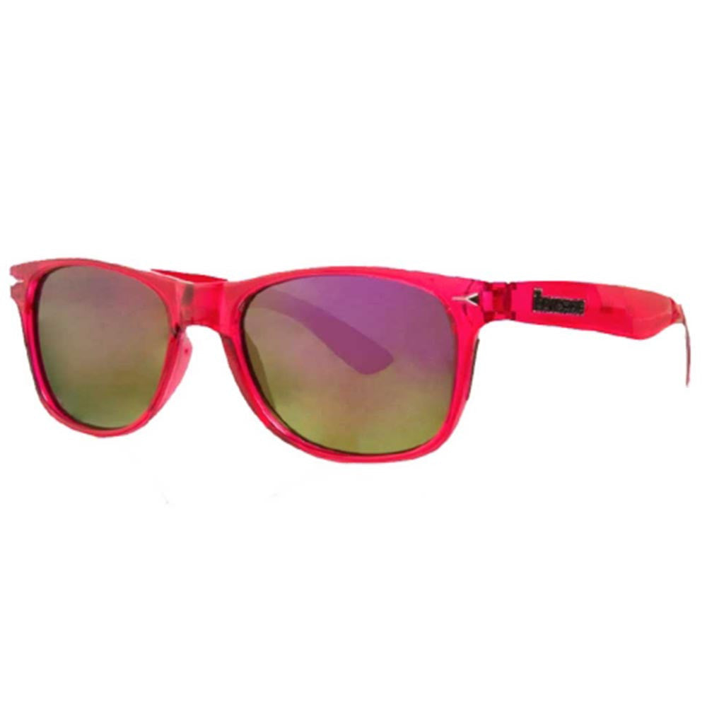 Brigada Lawless Sunglasses - Clear/Magenta w/ Purple Mirrored Lens