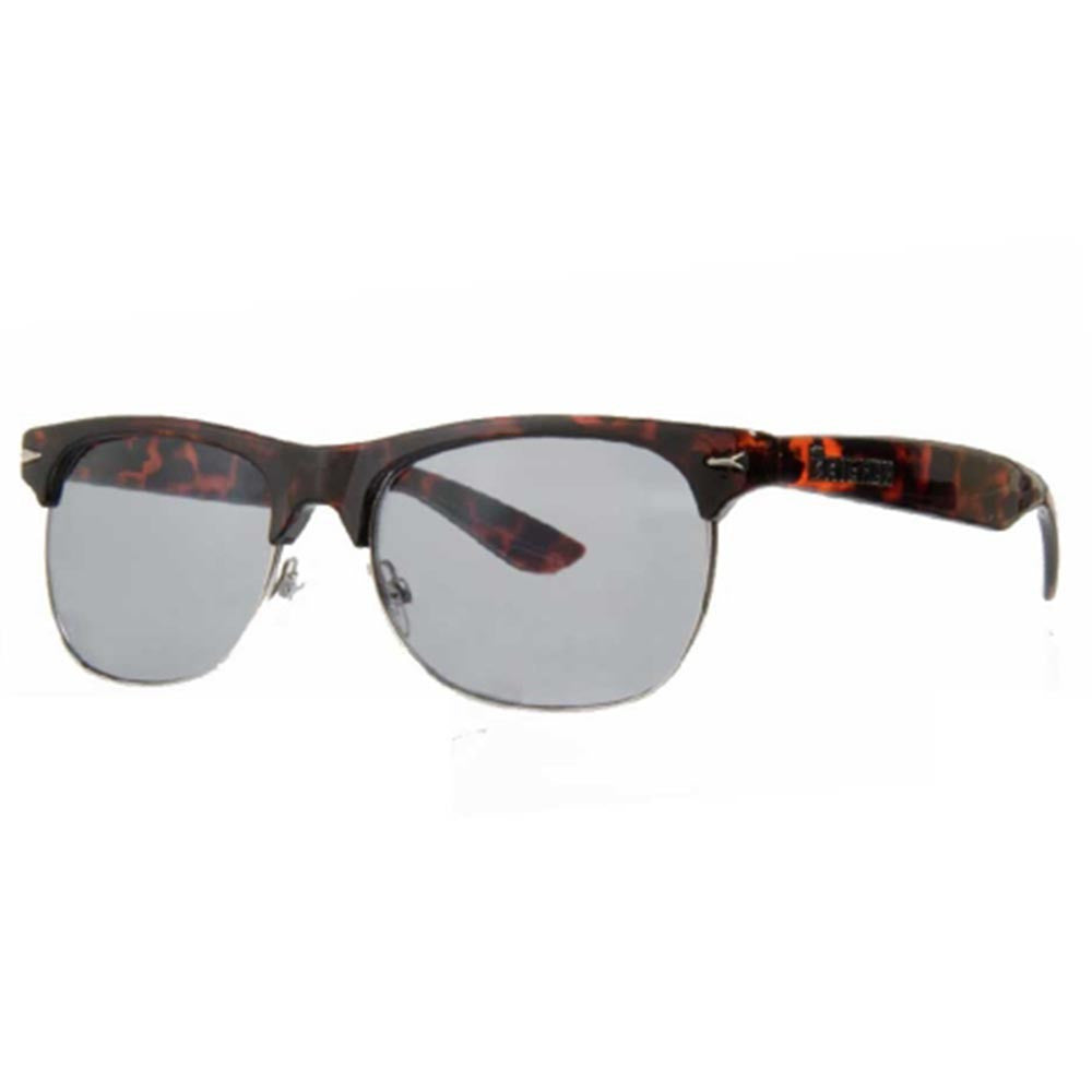 Brigada Midtown Sunglasses - Orange Tortoise w/ Smoke Lens