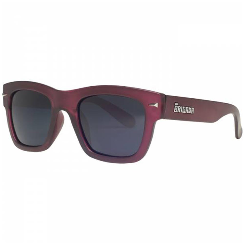 Brigada Bigshot Sunglasses - Wine w/ Smoke Polarized Lens