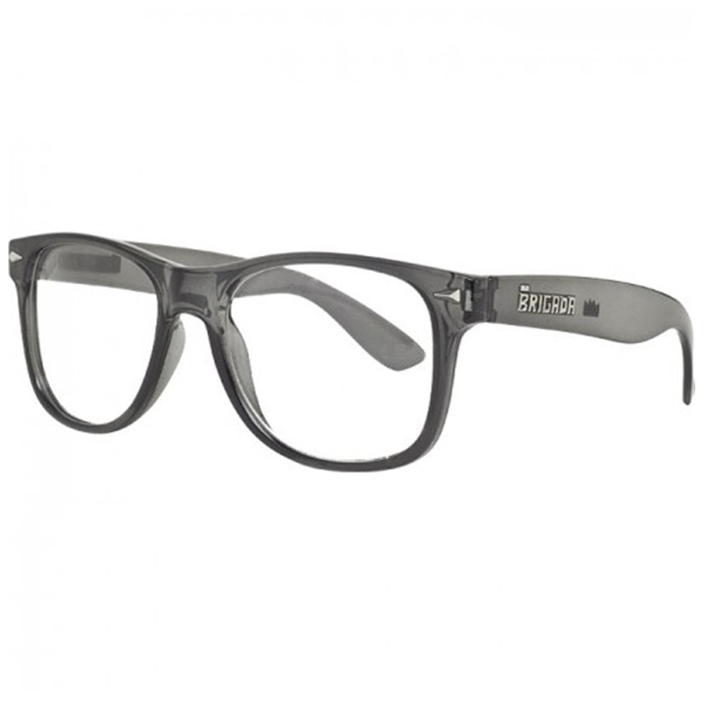 Brigada Lawless Sunglasses - Charcoal/Frost w/ Clear Lens