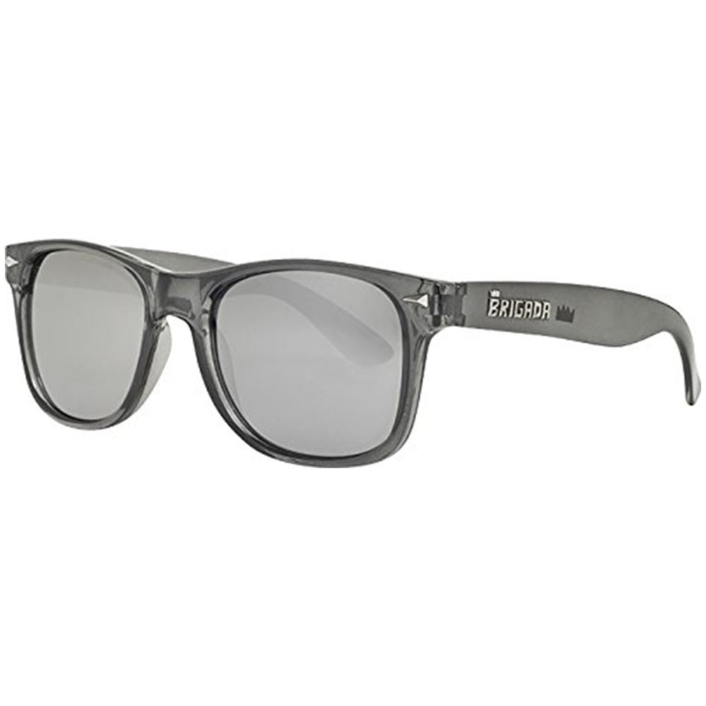Brigada Lawless Sunglasses - Charcoal/Frost w/ Smoke Mirrored Lens