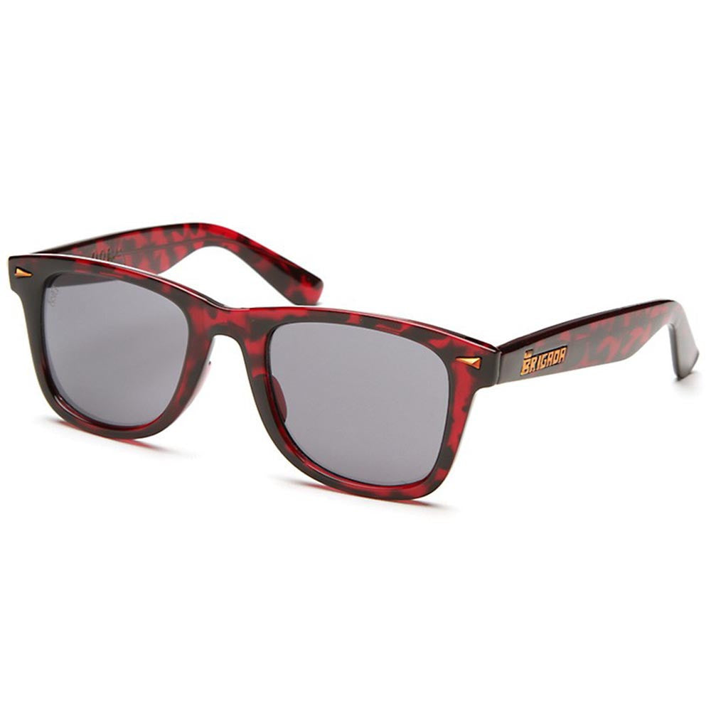 Brigada Paul Rodriguez Renegade Sunglasses - Red/Tortoise w/ Smoke Lens