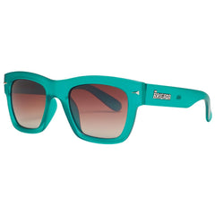 Brigada Big Shot Sunglasses - Teal/Frost w/ Brown Fade Polarized Lens