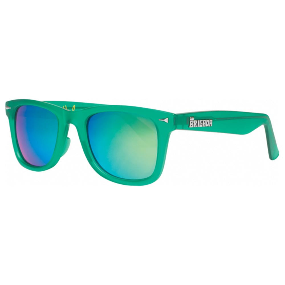Brigada Shane Heyl Renegade Sunglasses - Green/Yellow w/ Yellow Mirrored Iridescent Lens