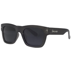 Brigada Big Shot Sunglasses - Charcoal/Frost w/ Smoke Polarized Lens