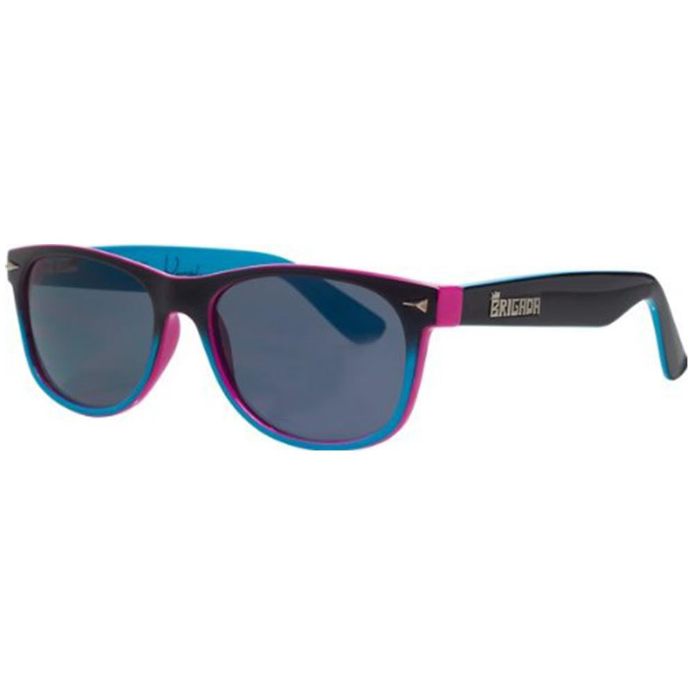 Brigada Terry Kennedy Warrant Sunglasses - Black/Blue w/ Smoke Lens