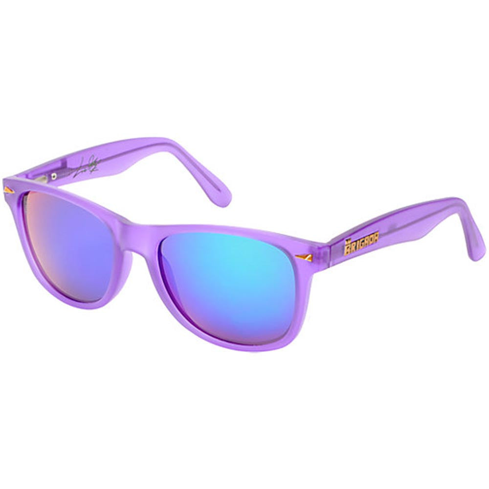 Brigada Lizard King Passion Sunglasses - Purple/Frost w/ Purple Mirrored Iridescent Lens