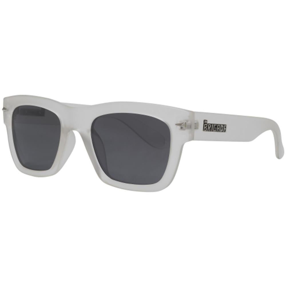 Brigada Big Shot Sunglasses - White/Frost w/ Smoke Polarized Lens