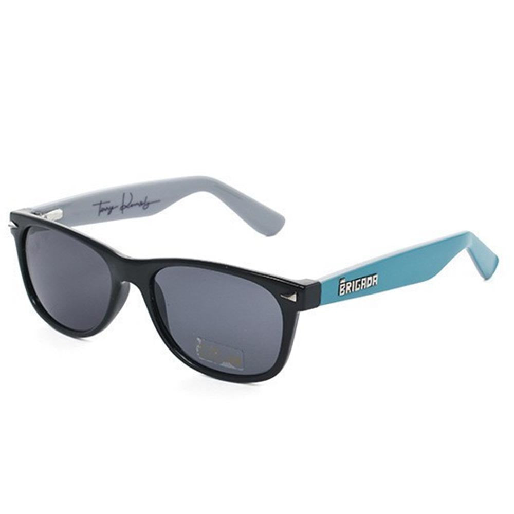 Brigada Terry Kennedy Warrant Sunglasses - Teal/Grey w/ Smoke Lens