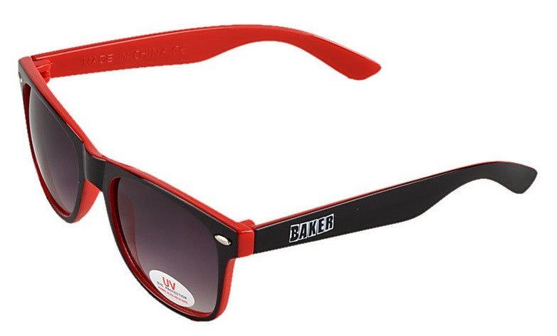 Baker Brand Logo Sunglasses - Black/Red