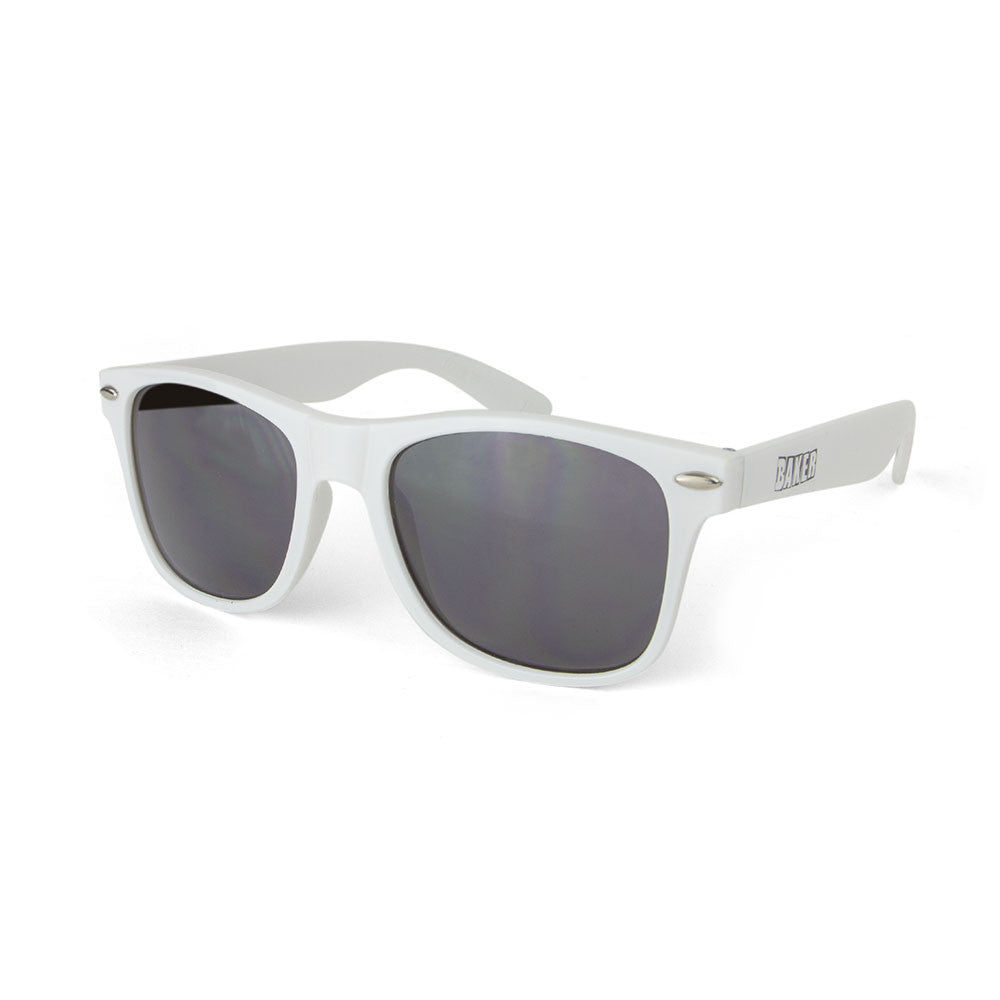 Baker Brand Logo Sunglasses - White/Black
