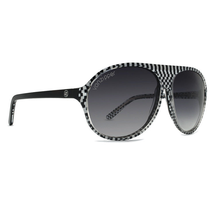 Von Zipper Rockford Sunglasses - White Czech Frame/Grey Lens