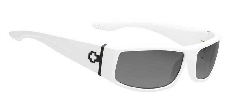Spy Cooper Sunglasses - White Frame/Grey Lens