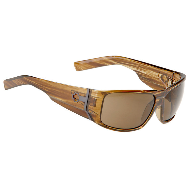 Spy Hailwood Sunglasses - Brown Stripe Tortoise Frame/Bronze Lens