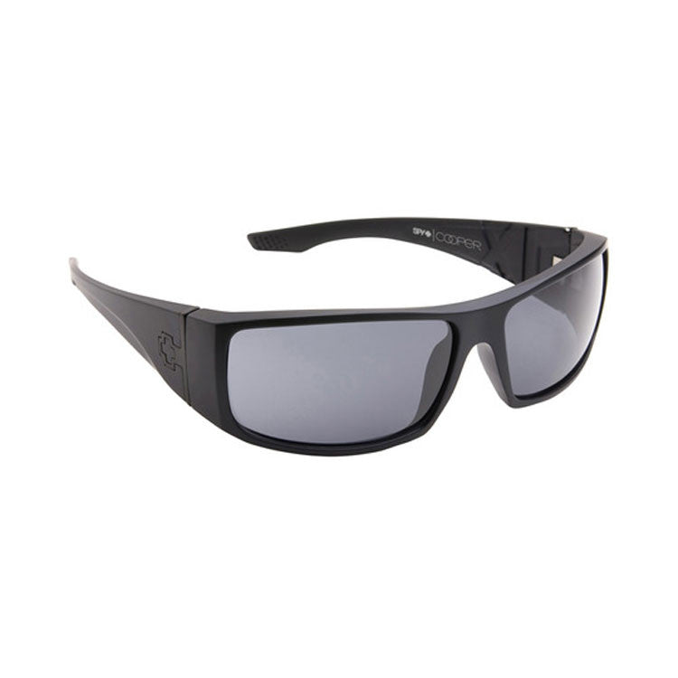 Spy Cooper XL Sunglasses - Matte Black Frame/Grey Lens