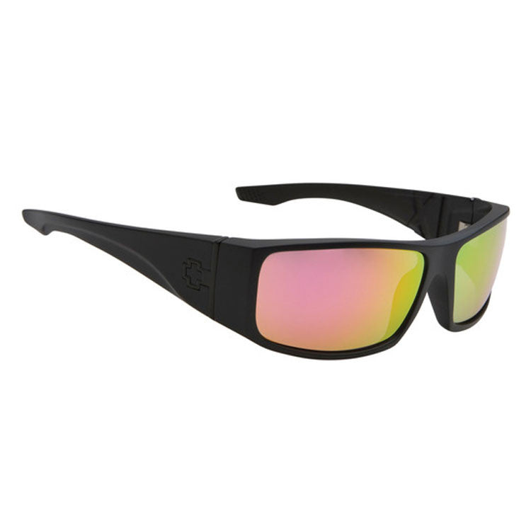 Spy Cooper XL Sunglasses - Matte Black/Grey Frame - Red Spectra Mirror Lens