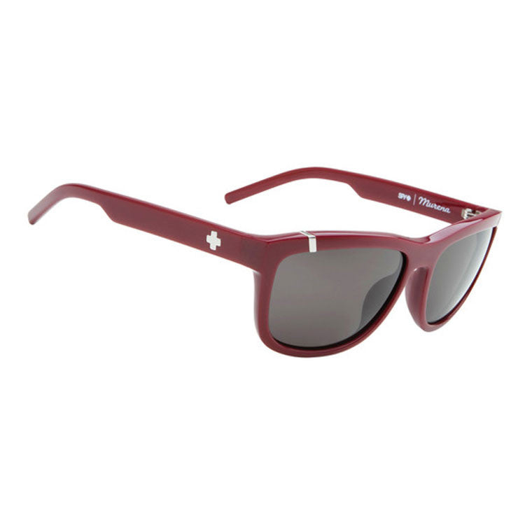 Spy Murena Sunglasses - Burgundy Frame - Grey Lens