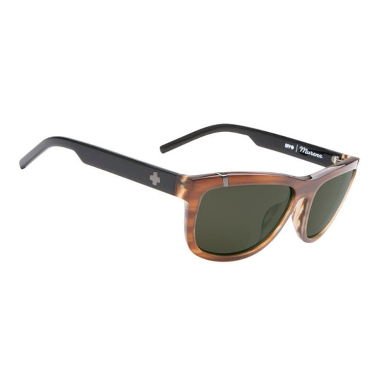 Spy Murena Sunglasses - RSD Wood Grain Frame - Green Polarized Lens