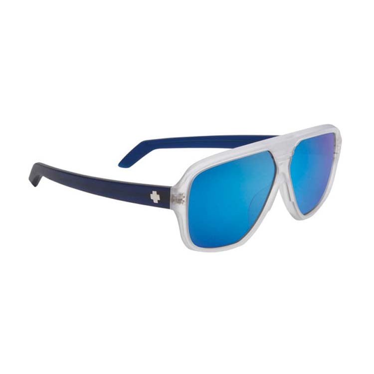Spy HiBall Sunglasses - Matte Ice/Laguna Blue Frame - Grey/Blue Spectra Lens