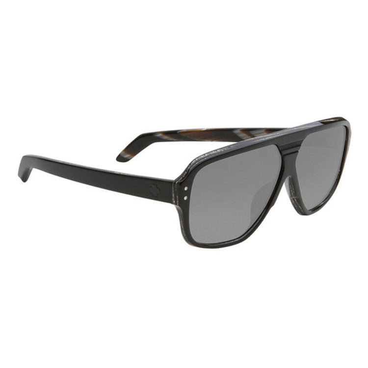 Spy HiBall Sunglasses - Black/Horn Frame - Grey Lens