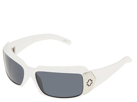 Spy Cleo Sunglasses - White Frame - Grey Lens