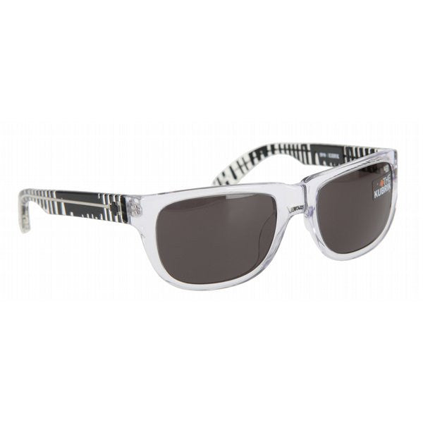 Spy Kubrik Sunglasses - Spy+Ken Block/Clear Drips Frame - Grey Lens