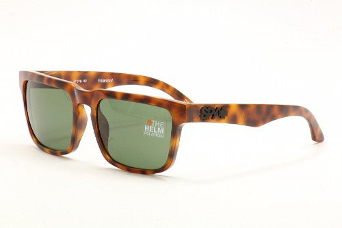Spy Helm Sunglasses - Tortoise Frame - Grey/Green Lens