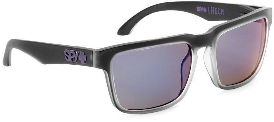 Spy Helm Sunglasses - Black Ice Frame - Purple Lens