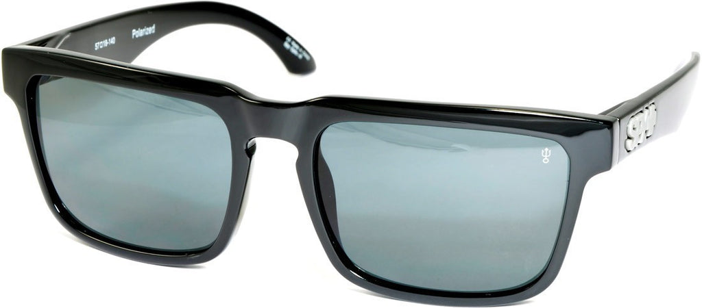 Spy Helm Sunglasses - Black Frame - Grey Lens