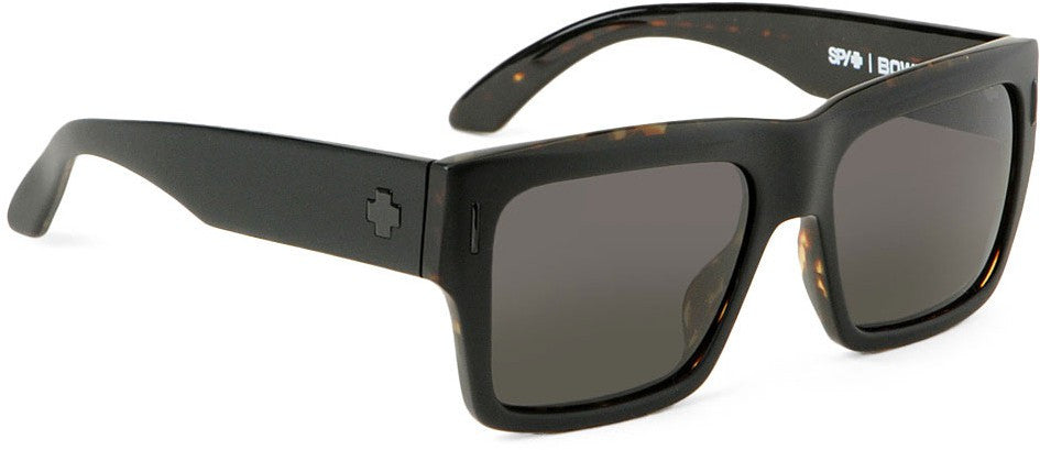 Spy Bowery Sunglasses - Matte Black Tortoise Frame - Grey/Green Lens