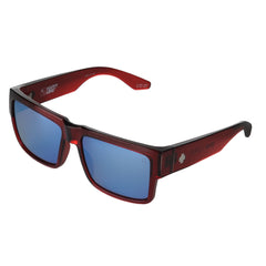 Spy Cyrus Sunglasses - Translucent Red - Happy Bronze/Blue Spectra Lens