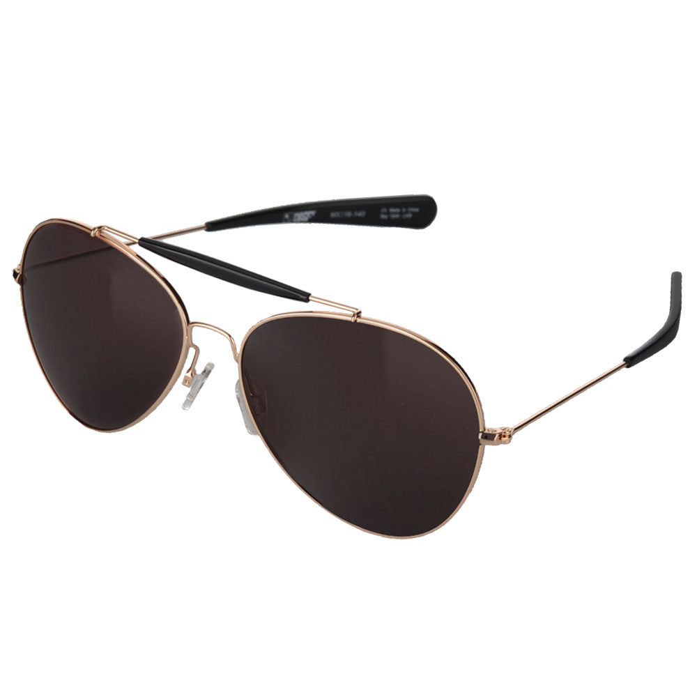 Spy Presidio Sunglasses - Gold/Black - Happy Bronze Lens