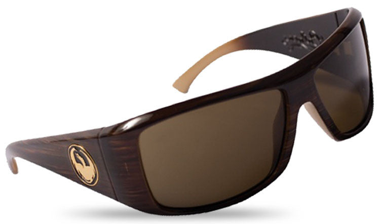 Dragon Calaca Sunglasses - Mocha Stripe Frame/Bronze Lens