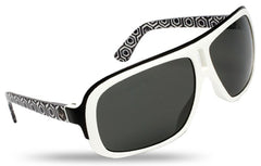 Dragon GG Sunglasses - White Hex Frame/Grey Lens