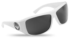 Dragon Calavera Sunglasses - White Frame/Grey Lens