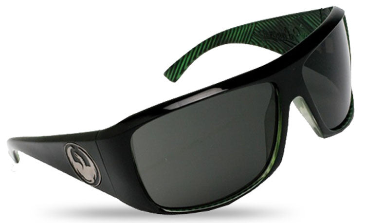 Dragon Calavera Sunglasses - Green Streak Frame/Grey Lens