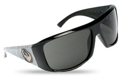 Dragon Calavera Sunglasses - Jet Matic Frame/Grey Lens