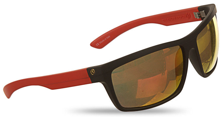 Electric Visual Meter Sunglasses - Matte Black N Red Frame/Bronze Red Chrome Lens