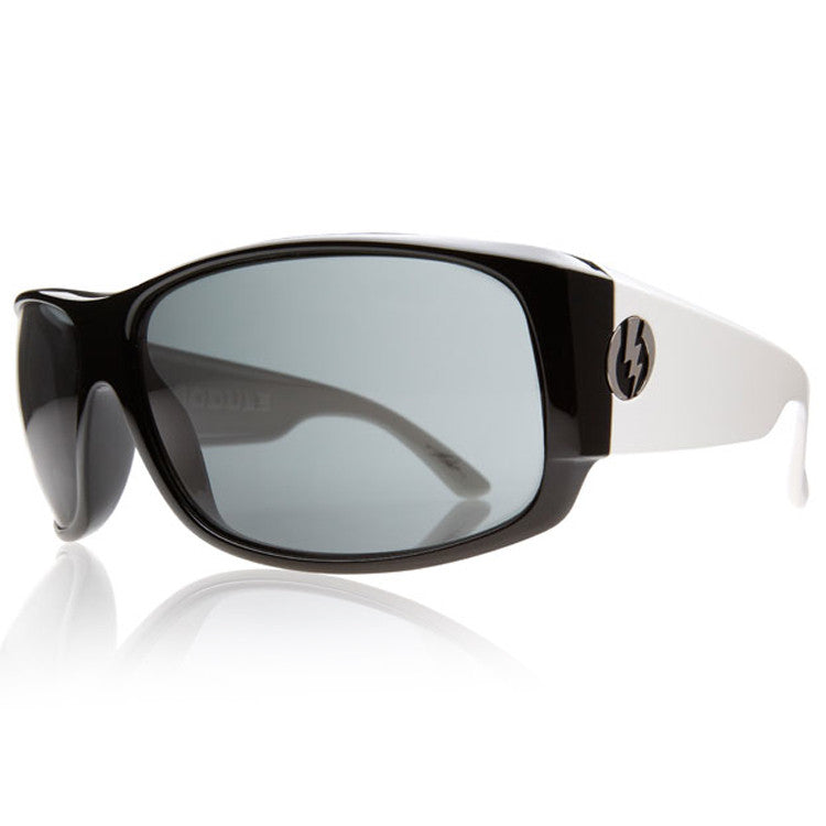 Electric Shotglass Sunglasses - Black N White Frame/Grey Lens