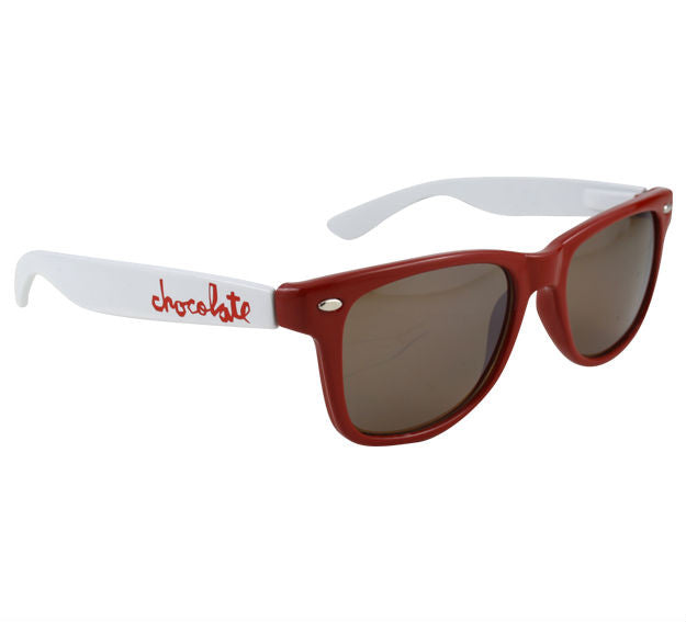 Chocolate Chunk Basic Sunglasses - Red/White