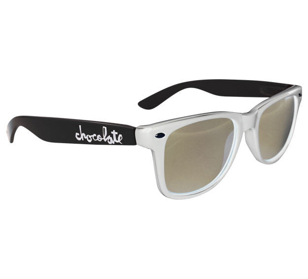 Chocolate Chunk Basic Sunglasses - White/Black