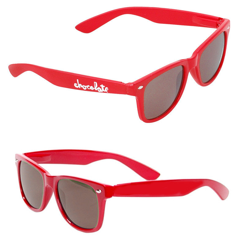 Chocolate Chunk Basic Sunglasses - Red