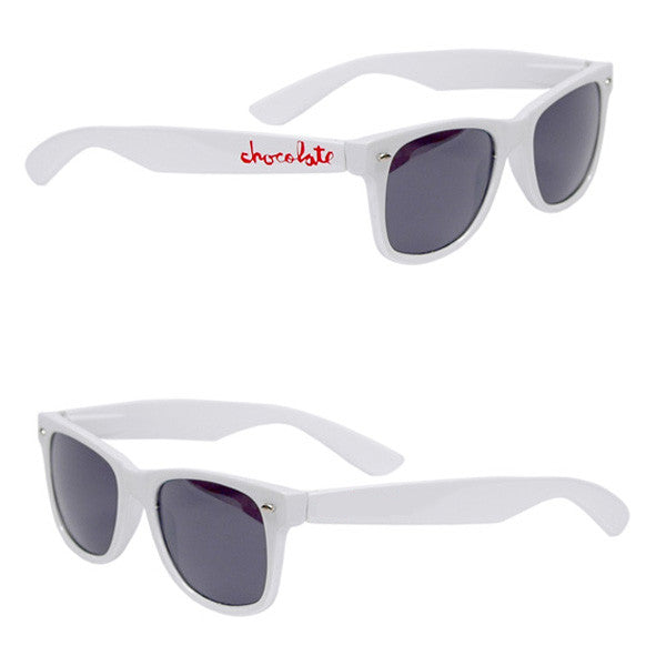 Chocolate Chunk Basic Sunglasses - White