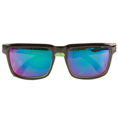 Creature Arachnids Square O/S Sunglasses - Black/Neon Green