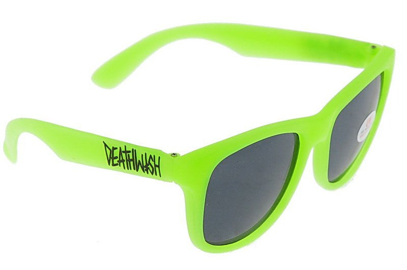 Deathwish DW Glow In The Dark Sunglasses - Neon