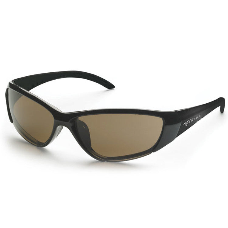 Serfas Force 5 Sunglasses - Gloss Black/Brown