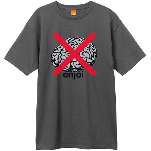 Enjoi No Brainer S/S - Charcoal - Men's T-Shirt