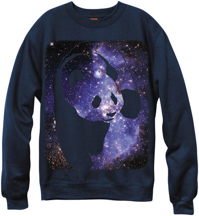 Enjoi Cosmos Panda Crew - Navy - Men's Sweatshirt